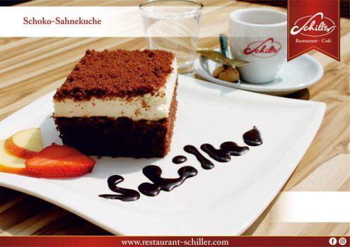 Schoko-Sahnekuchen // Restaurant Schiller