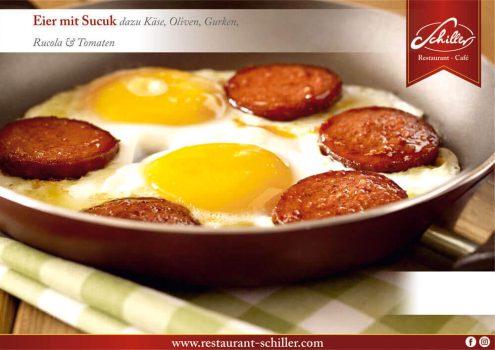 Eier mit Sucuk // Restaurant Schiller